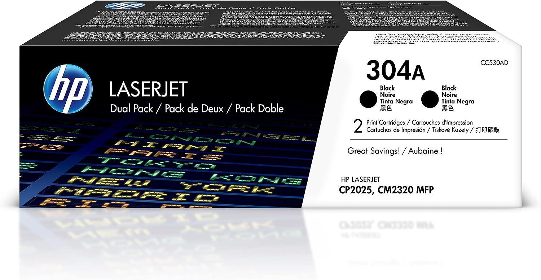HP 304A | CC530AD | 2 Toner-Cartridges | Black