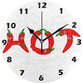 MIKA猛烈 チリペッパー 掛け時計 スイープ(連続秒針)静音 デザイン 北欧インテリア おしゃれ 部屋装飾 インテリア