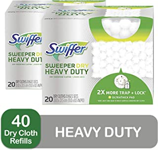Swiffer Sweeper Heavy Duty Mop Pad Refills for Floor Mopping and Cleaning, All Purpose Multi Surface Floor Cleaning Product, 20 Count, 2 Pack