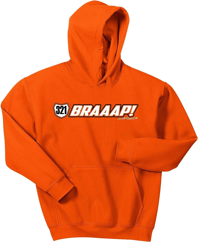 JUST RIDE BRAAAP! Youth Hoodie Sweatshirt Motocross Number Plate Custom Personalized