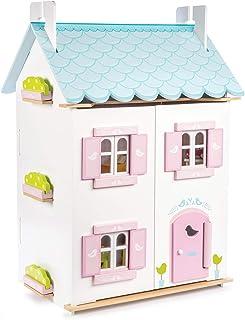 Le Toy Van H138 Blue Bird Cottage, blått fågelhus med möbler