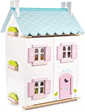 Le Toy Van - Gorgeous Wooden Bluebird Dolls House & Furniture Large Wooden Doll House   Girls 3 Storey Wooden Dolls House ...
