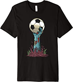 Zombie Hands Soccer Funny Horror Scary Halloween Costume Premium T-Shirt