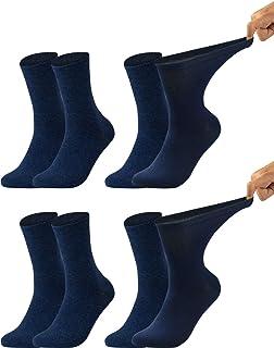 Vitasox, Calcetines de caballero extraanchos de algodón, calcetines sanitarios sensibles sin elástico, sin costura, lote de 6 u 8 unidades