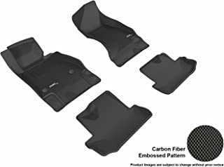 3D MAXpider Complete Set Custom Fit All-Weather Floor Mat for Select Chevrolet Camaro Models - Kagu Rubber (Black)