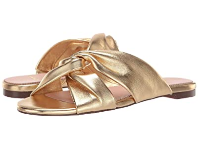J.Crew Knotted Soft Leather Sandal (Metallic Gold) Women