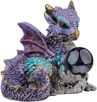 Puckator Seeing Orb Elements Dragon Figurine x 1, Height 5-5.5cm Width 4.5-5.5cm Depth 3.5-4cm, Multi