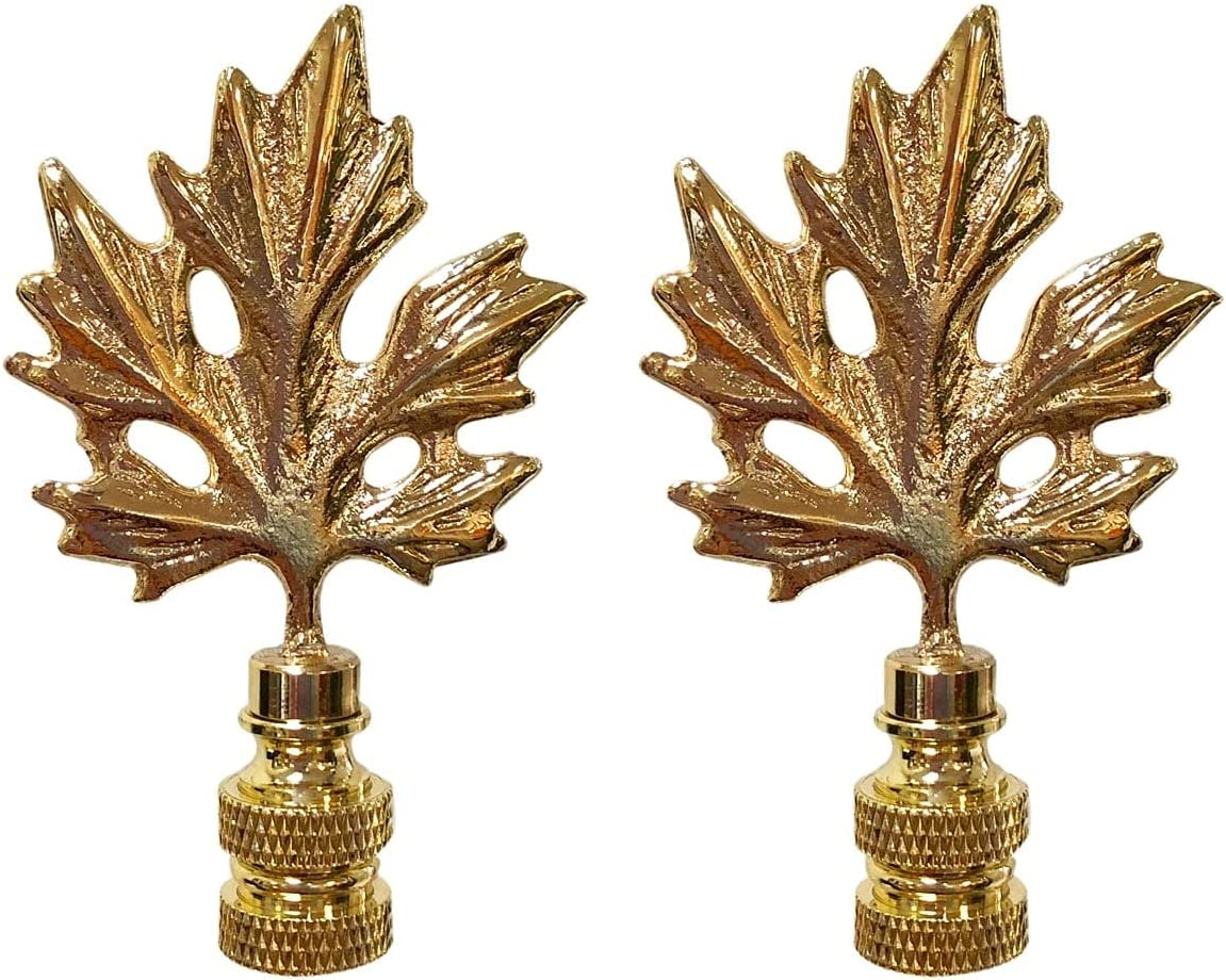 Overstock Royal Designs Excellent Maple Leaf Polished Lamp Design Finial Fort Worth Mall