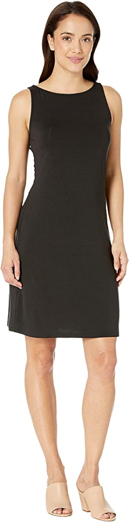 Tambour Sleeveless Short Shift Dress