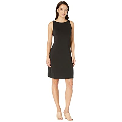 Tommy Bahama Tambour Sleeveless Short Shift Dress (Black) Women