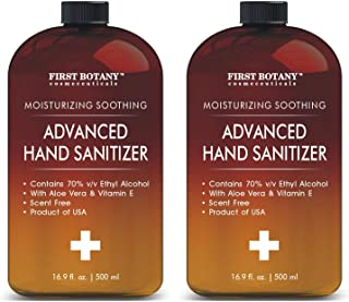 70% Alcohol Hand sanitize Gel - (2 Pack of 16.9 fl oz), Infused with Aloe Vera Gel, Kills 99.99% Germs No Water Required, Hand Wash Quick Drying Hand Sanitizing Washless Liquid Hand Gel