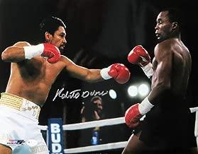 Roberto Duran Signed Autographed 11X14 Photo Boxing vs. Sugar Ray Leonard OA