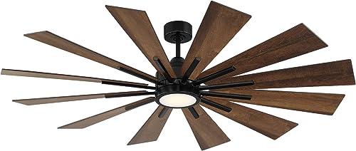 """2021 Savoy House 60-760-12AO-89 Farmhouse 60"""" Antique Oak Ceiling Fan (60"""" lowest W online x 62""""H) outlet online sale"""