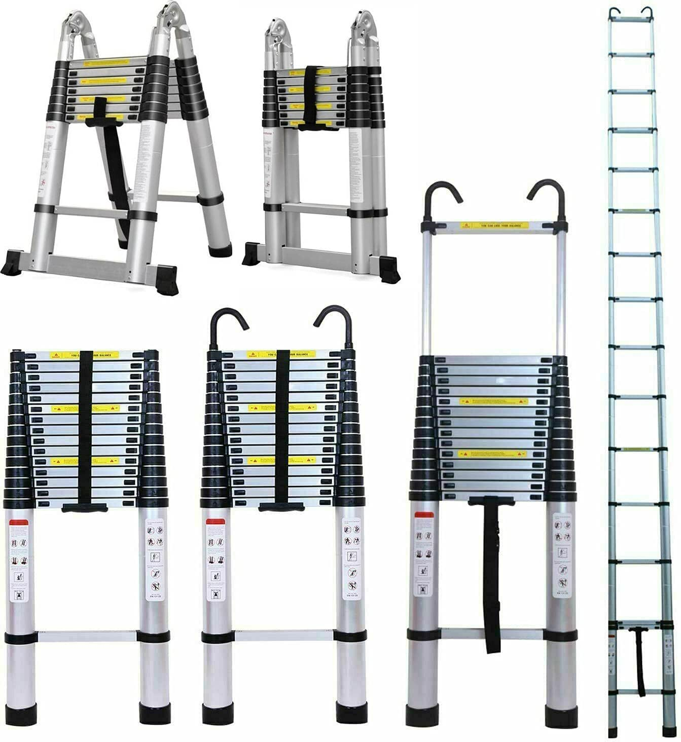 Weekly update Aluminium Extendable Ladder Telescoping 10.5FT Extension 2021 spring and summer new