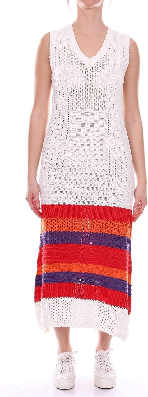 Akep Women's KE798WHITE White Wool Dress