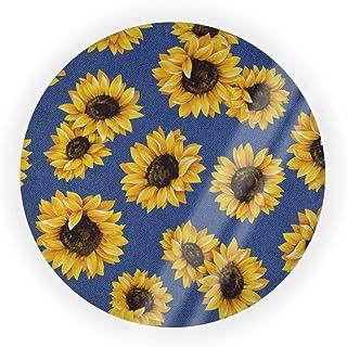 Empty Air Cushion Puff Box Shabby Chic Floral Sunflower Denim Blue Cushion Pact Cosmetic Make Up Case Bb Cc Liquid Cream F...