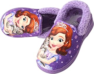 Joah Store Sofia Clover Girl's Warm Fur Purple Comfort Indoor Slipper Shoes (Parallel Import/Generic Product)