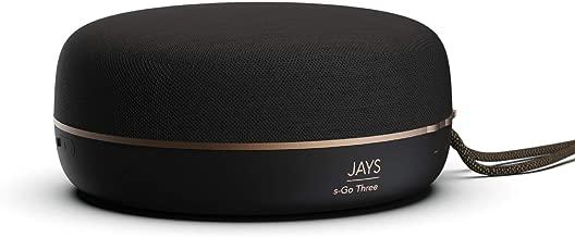 JAYS Mini Cassa Bluetooth Portatili - s-Go Three altoparlanti nero con microfono per telefono cellulare, PC e altro ancora