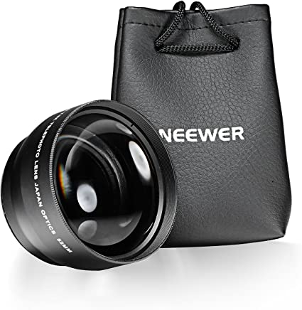 Neewer 52MM 2.2X Professional Telephoto Lens with Microfiber Cleaning Cloth for Nikon D3000, D3200, D5200, D5300, D7100, D3, D4, D50, D60, D70s, D80, D600, D700 and Other Digital SLR Camera