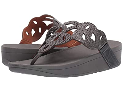 FitFlop Elora Crystal Toe Thong Sandal (Pewter) Women