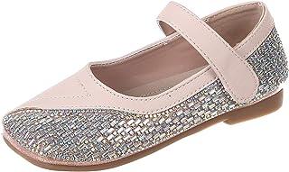 Zapatos de Princesa para niños Ligeros Transpirables Suela Suave Antideslizante Zapatos Planos de Cuero con Diamantes de i...