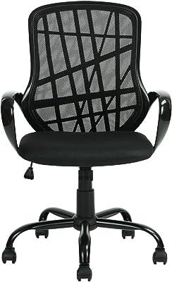 Ihouse Silla de oficina de malla respaldo alto apoyo ejecutivo giratorio altura ajustable silla de escritorio