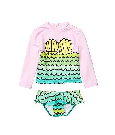 Stella McCartney Kids Mermaid Shells Rashguard Set (Infant) (Pink) Girl