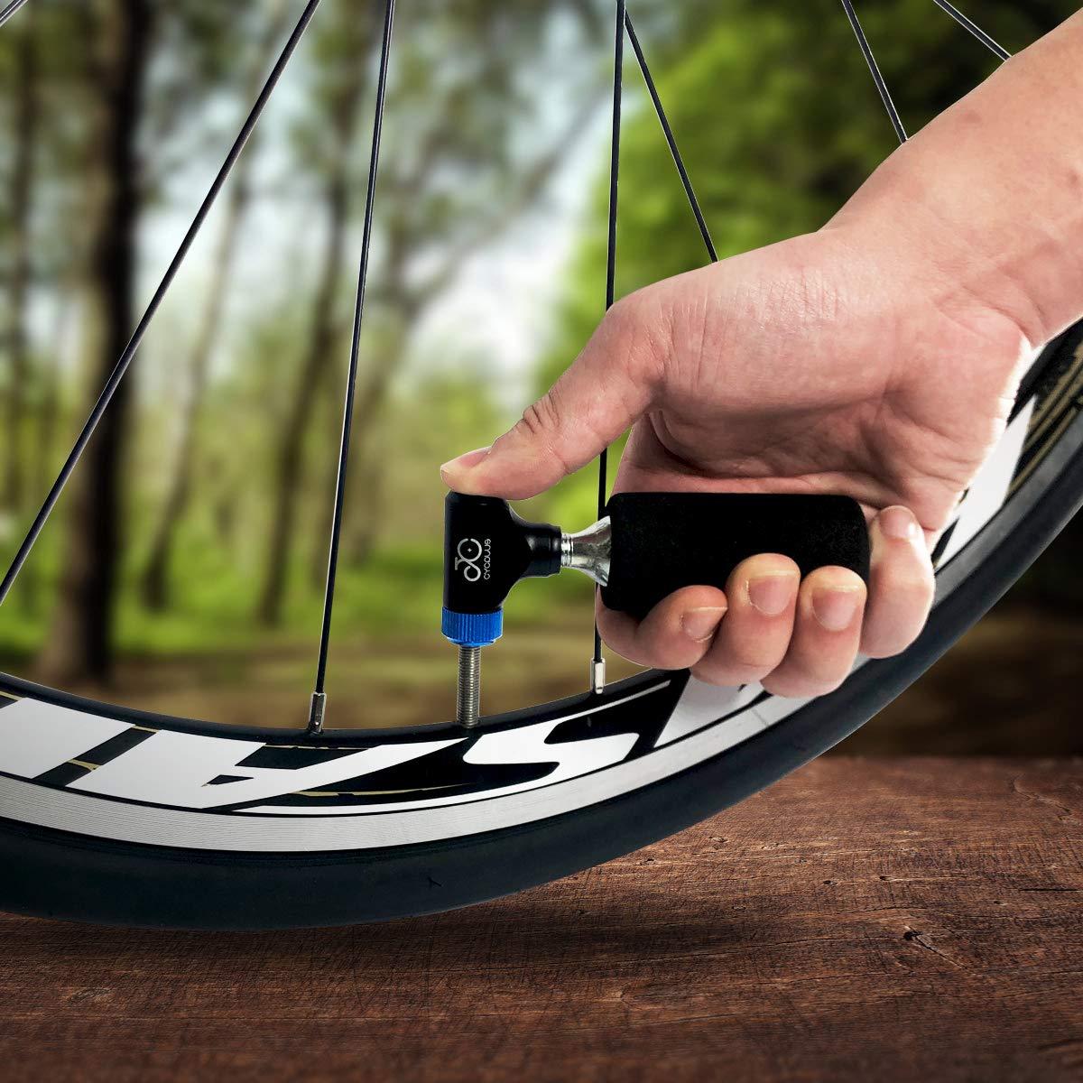 CYCPLUS CO2 Inflador Bicicletas Neumático Rápido Fácil y seguro ...