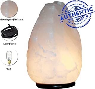 Himalayan Lava Rock Salt Lamp - Himilian Salt Lamp White Room Decor - Pure Hymalain Salt Lamp Room Decor with On and Off Switch/Dimmer - 5-7 Lbs - Bulb with 6-8 Inches UL Electric Corded