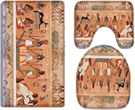 A.Monamour Ancient Egypt Scene Gods And Pharaohs Religious History Hieroglyphic Egyptian Murals Art Print Soft Flannel Bat...