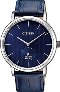 Citizen Men's Blue Dial Leather Band Watch - BE9170-05L