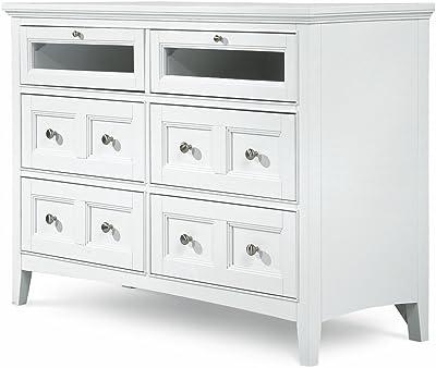 Amazon.com: Muebles de América Jacques Media Pecho Con 4 ...
