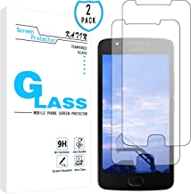 KATIN Moto E4 Screen Protector - [2-Pack] Tempered Glass for Motorola Moto E4 / Moto E (4th Generation) Bubble Free with Lifetime Replacement Warranty