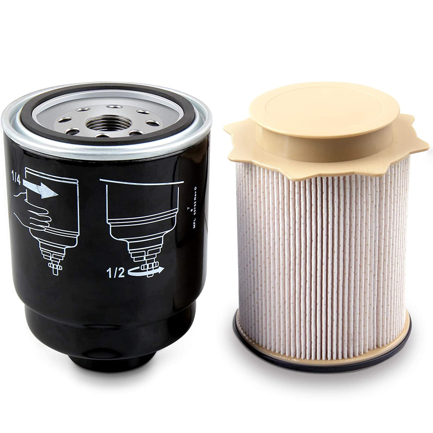 Auto Safety Diesel Fuel Filter Water Separator set for Dodge Ram 6.7L 2500 3500 4500 5500 6.7L Cummins Turbo Diesel Engines 68197867AA 68157291AA