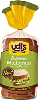 Udi's Delicious Gluten-Free MultiGrain Bread, 12 Oz Loaf [Case of 8]