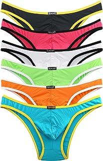iKingsky Men's Modal Cheeky Underwear Sexy Brazilian Back Mens Briefs Underwear Pack of 6