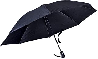 Revers-a-Brella Portable No-Drip Inverted Auto Open Close Compact Umbrella, Black