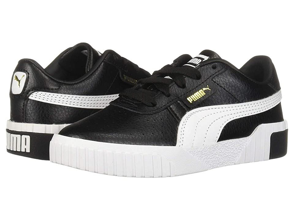 Puma Kids Cali (Little Kid) (Puma Black/Puma Team Gold) Girl