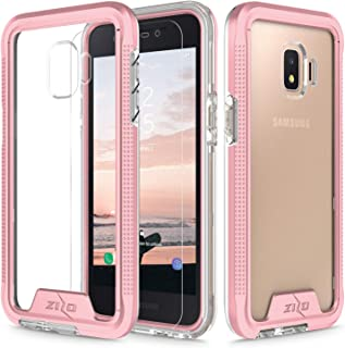 Zizo Ion Series Compatible with Samsung Galaxy J2 Case Military Grade Drop Tested with Tempered Glass Screen Protector J2 Pure Case Rose Gold Clear