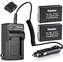 Kastar Battery 2-Pack + Charger Kit for Canon LP-E17 Battery LC-E17, LC-E17C Charger and Canon EOS M3, EOS Rebel T6i T7i T...