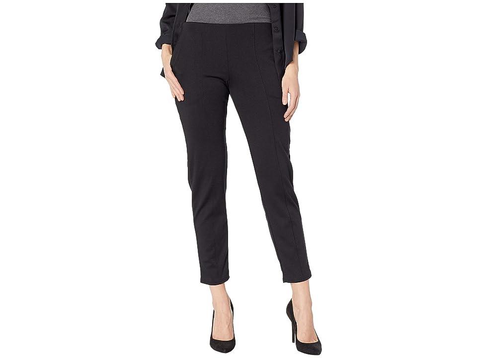 HUE Seamed Luxe Ponte Skimmer Leggings (Black/Solid) Women