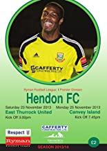 Hendon FC v East Thurrock FC and Canvey Island FC Football eProgramme (Hendon FC Football eProgramme 2013 - 2014)