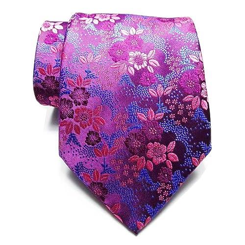24ba0752f28a Secdtie Men's Silk Tie Cravat Jacquard Luxury Floral Pattern Wedding Necktie