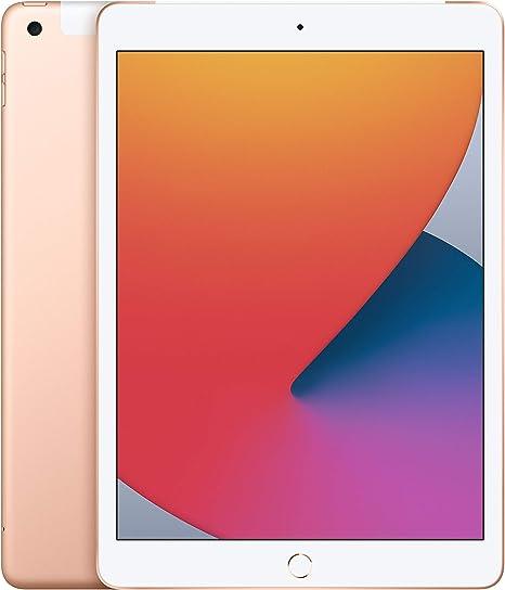 -2020 Apple iPad (10,2‑inch, Wi-Fi + Cellular, 128GB) - goud (8egeneratie)-aanbieding