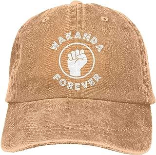 Men Women Vintage Cotton Denim Baseball Cap Wakanda Forever Fist Trucker Cap
