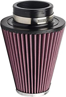 HIFROM RC-3680 High Performance Universal Clamp-on Chrome Replacement Air Filter for Harley Davidson Motorcycle