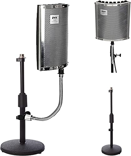 new arrival LyxPro Gooseneck Vocal Booth discount 40 Portable Acoustic outlet sale Isolation Instrument Shield, Sound Absorbing Panel, with Adjustable Desktop Microphone Stand outlet online sale