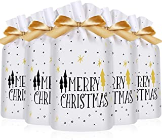 Frienda 30 Packs Treat Bags with Drawstring Candy Bags, Plastic Favor Bag Drawstring Cookie Bags for Christmas Wedding Par...
