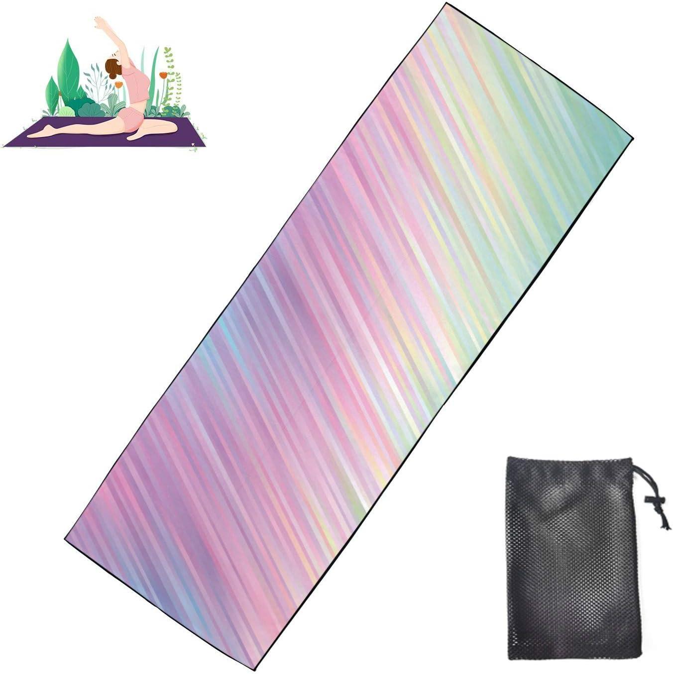 Jnseff Non-Slip Yoga Towel safety Holographic New item Vector Stripes Gradient P
