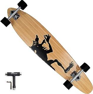 APOLLO Pintail Longboard Cruiser Skateboard - 42 Inch Kicktail Longboard Skateboard Made of 7 Layer Clear Maple & Bamboo -...